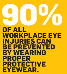 90 % Of Workplace Eye Injuries